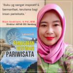 Testimoni Buku Pemasaran Pariwisata dari Dr. Rian Andriani